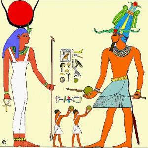 Labdaütés szertartása Deir el-Bahariban III. Thutmoszisz fáraóval