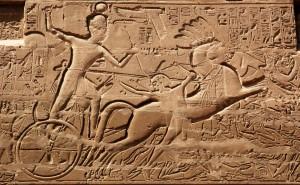 Karnak, Amon-Ré templom, I. Széthi fáraó líbiai hadjárata közben